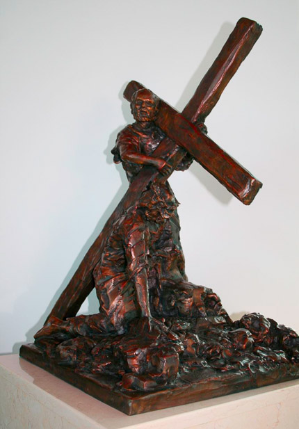 V - Simon Helps Jesus Carry His Cross - view 2